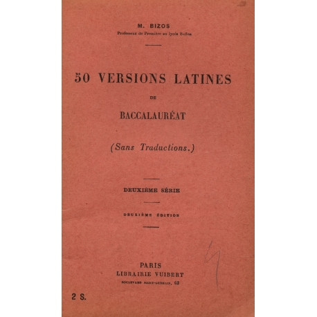 50 versions latines de Baccalauréat / 1935 / Réf8823