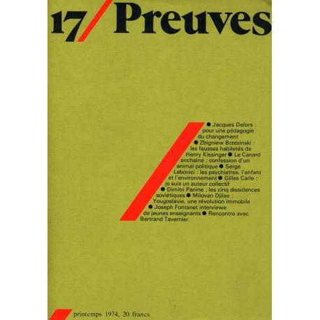 17/ Preuves printemps 1974 / Collectif / Réf: 13546