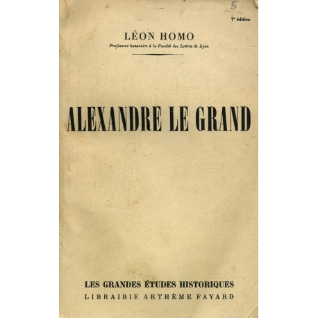 Alexandre Le Grand / Homo, Léon / Réf15581