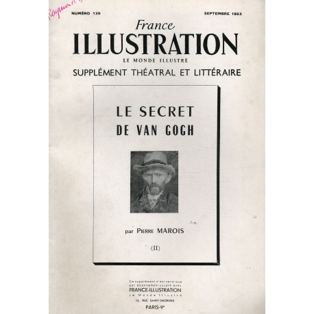 Le secret de Van Gogh France Illustration N°129 / Revue / Réf: 16614