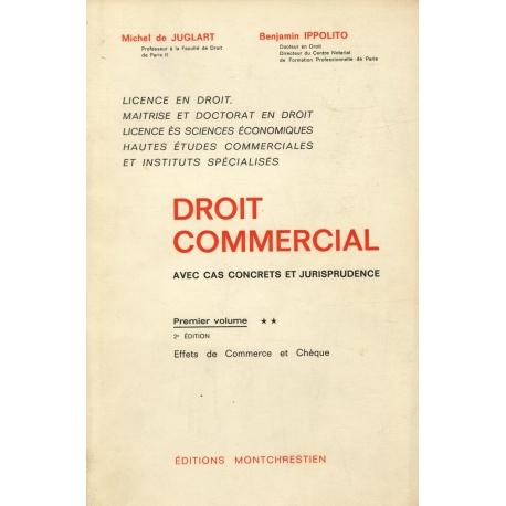 Droit commercial avec cas concrets jurisprudence / Juglart/ Ippolito / Réf23267