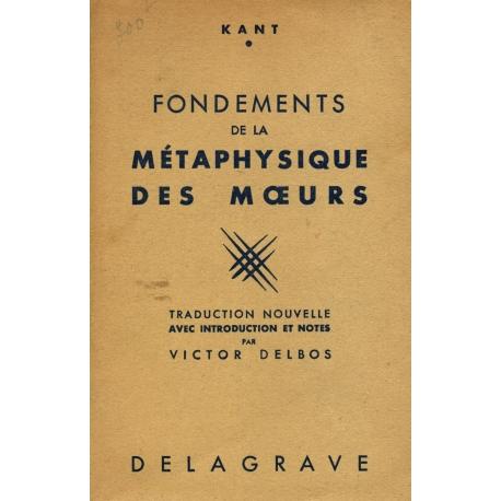 Fondements de la métaphysique des mœurs / Kant / Réf31188