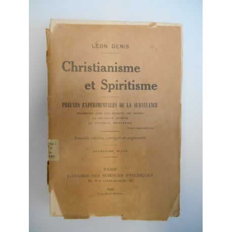 Christianisme et Spiritisme / Denis, Léon / Réf46623