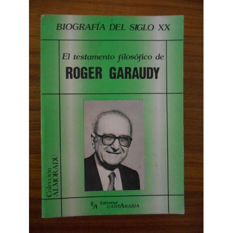 El testamento filosofio de Roger Garaudy (en espagnol) / Réf56723